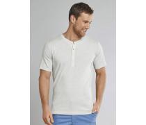 Shirt kurzarm Feinripp Henley Knopfleiste natur meliert - Selected! Premium,Shirt kurzarm Feinripp Henley Knopfleiste natur meliert -elected! Premium
