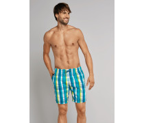 Swimshorts mehrfarbig kariert - Aqua für Herren