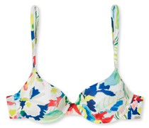 Schiesser Bikini-Top Bügel Softpads variable Träger Blumenprint mehrfarbig