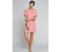 Schiesser Sleepshirt kurzarm apricot-sorbet bedruckt - Clearwater Bay für Damen