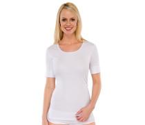 Shirt Doppelripp kurzarm weiß - Fräuleinwunder