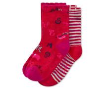 Socken 2er-Pack mehrfarbig - Lotte lernt lesen