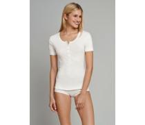 Shirt kurzarm Feinripp naturweiß - Naturschönheit für Damen