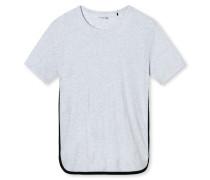Shirt kurzarm Jersey Rundhals -meliert