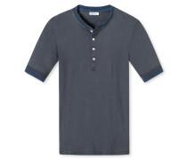 Shirt kurzarm mit Knopfleiste anthrazit - Revival Karl-Heinz