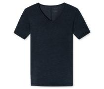 Shirt kurzarm V-Ausschnitt nacht