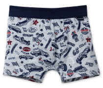 Hip-Shorts grau-meliert bedruckt