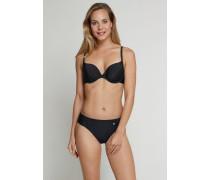 Schiesser Bügel-Bikini mit Tai-Slip ungepaddet schwarz - Isla Island für Damen