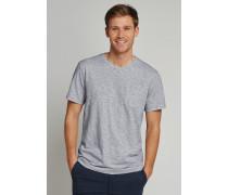 T-Shirt Flammgarn Jersey rundhals Ringel grau-weiß - Selected! Premium,T-Shirt Flammgarn Jersey rundhals Ringel grau-weiß -elected! Premium