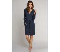 Bademantel Jersey Raglan-Schnitt dunkelblau - Natural Shades für Damen