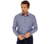 Hemd langarm Kent-Kragen blau - REGULAR FIT