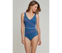 Schiesser Badeanzug admiral - Aqua für Damen
