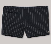 Bade-Retro Wirkware Reißverschlusstasche schwarz-grau gestreift - Aqua