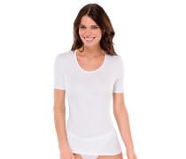 Shirt kurzarm Rundhals weiß - 95/5