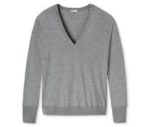 Shirt langarm Cotton/Modal grau meliert - Revival Amelie