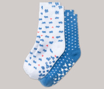 Schiesser Stopper-Socken 2er-Pack mehrfarbig - Sommerbrise für Mädchen