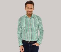 Schiesser Hemd langarm Kent-Kragen mehrfarbig kariert - COMFORT FIT für Herren