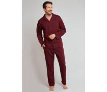 Pyjama lang Webware Jacquard bordeaux - Selected! Premium