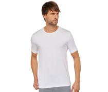Shirt kurzarm Rundhals Cotton-Modal-Jersey weiß - Mix & Relax