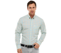 Hemd langarm Button-Down-Kragen mehrfarbig kariert - REGULAR FIT