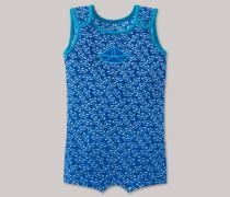 Schiesser Baby-Bade-Body LSF 40+ blau bedruckt - Boats & Stripes für Jungen