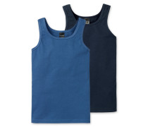 Unterhemd blau (2er-Pack)