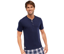 Shirt kurzarm mit Knopfleiste dunkelblau - Mix & Relax