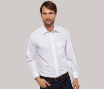 Schiesser weißes Oberhemd in Comfort-Fit-Schnittform für Herren