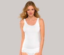 Schiesser Trägertop weiß - Luxury für Damen