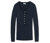 Shirt langarm Feinripp blauschwarz - Revival Lena