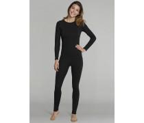 Schiesser Shirt langarm Funktionswäsche warm schwarz-pink - Sport Thermo Light für Damen