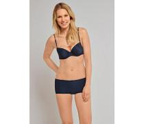 Shorts Micro-Qualität nachtblau gepunktet - Pure Jacquard für Damen
