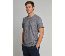 T-Shirt Flammgarn Jersey V-Ausschnitt blau-weiß - Selected! Premium,T-Shirt Flammgarn Jersey V-Ausschnitt blau-weiß -elected! Premium