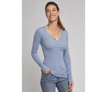 Shirt langarm mit Knopfleiste jeansblau - Selected! Premium