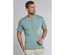 Shirt kurzarm Feinripp Henley Knopfleiste mineral - Selected! Premium,Shirt kurzarm Feinripp Henley Knopfleiste mineral -elected! Premium