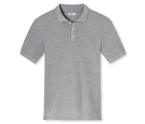 Poloshirt Retro-Piquee grau meliert - Revival Paul