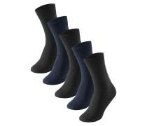 Herrensocken 5er-Pack stay fresh nachtblau-schwarz