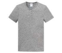 Shirt kurzarm Feinripp grau meliert - Soft Cotton
