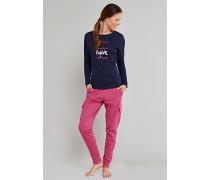 Shirt langarm überschnittene Ärmel dunkelblau - Uncover