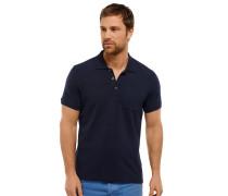 Poloshirt Piquee kurzarm blau