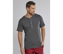 Schiesser Shirt kurzarm Feinripp Henley Knopfleiste anthrazit - Selected! Premium für Herren,Schiesser Shirt kurzarm Feinripp Henley Knopfleiste anthrazit -elected! Premium für Herren