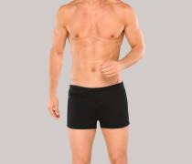 Bade-Retroshorts mit Reißverschluss-Tasche schwarz - Aqua für Herren