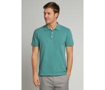 Poloshirt kurzarm Piquee Used Look mint - Selected! Premium für Herren