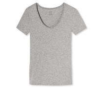 Shirt kurzarm Feinripp  meliert