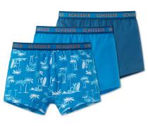Hip Shorts 3er-Pack blau - Beach Cruiser