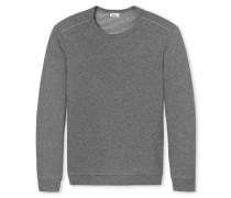 Shirt langarm Doubleface Sweatware grau meliert - Revival Anton