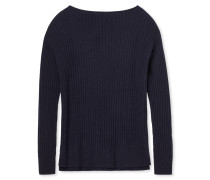 Pullover Strickware Wolle/Kaschmir gerippt navy - Revival Lotte