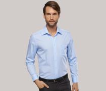 Schiesser hellblaues Oberhemd in Regular-Fit-Schnittform für Herren