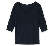 Pullover Feinstrick mit Kaschmir-Touch blauschwarz - Revival Lea