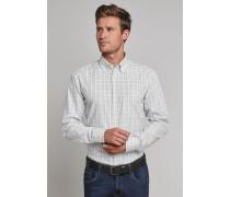 Hemd langarm Button-Down-Kragen mehrfarbig kariert - REGULAR-FIT für Herren